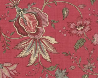 Item # 13632 11 Moda Fabric La Belle Fleur Collection by French General. 1/2 Yard Cuts Vintage French Designs.