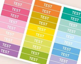 Test Heading stickers, planner header stickers, planner stickers, agenda notebook stickers, reminder eclp filofax happy planner kikkik