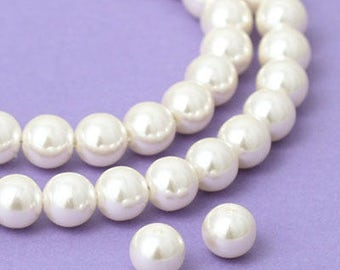 Acrylic Round Pearl Beads  10mm Cream 2) [204 Pieces]