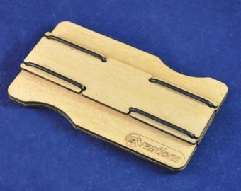 Slimline wooden wallet: Perfect for Bank Cards, Business Cards, Cash and lots more