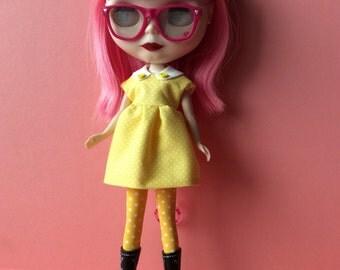 Yellow polka dots Blythe dress