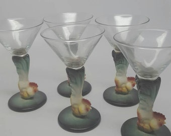 Will George Rooster martini glasses
