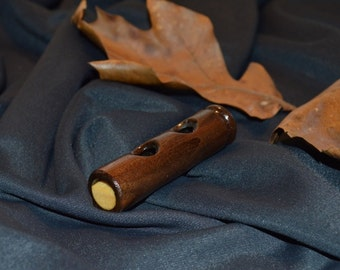 Handcrafted Walnut duck whistle--wood duck hunting- duck hunting call. Id:w