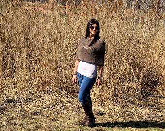 Crochet Top Pattern, Crochet Poncho Pattern, Crochet Garment Pattern, Easy Crochet Top, Shawl, Women Scarf, Wrap, PDF, Infinity Scarf, Shrug