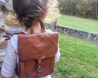 Leather Child backpack, toddler backpack, knapsack, childs pack, toddler bookbag, preschool, daycare