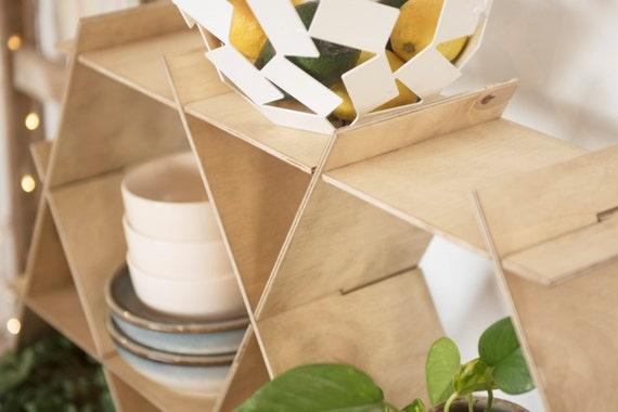Grote houten keuken planken plaat Rack opslag door RucheShelving