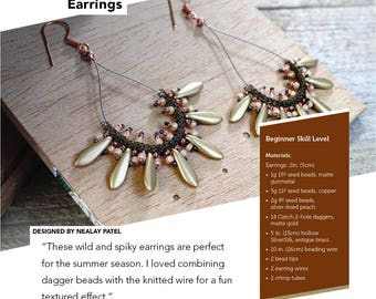 PATTERN – Spike Earrings