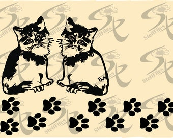 0418_CAT The Kitten PAW Vector,clipart Signature,SVG,DXF,ai,png, eps,jpg,Download files,Digital, graphical