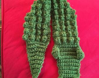 Alligator/ crocodile boy scarf