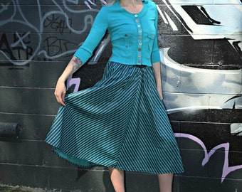 Vintage / Retro Rockabilly 1980's Semi-Circle Skirt - Size 8/10