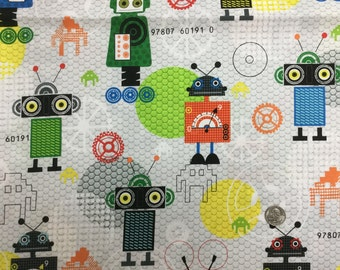 I Bot  - Robot fabric by Red Rooster
