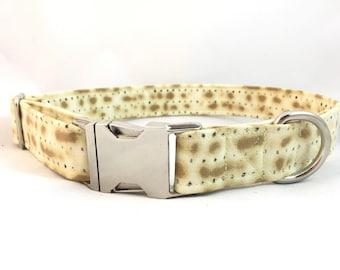 Matzoh Dog Collar - Jewish dog collar - Passover dog collar - Fun Collar - Pessach Dog Collar - Food lovers Dog Collar - Dog Collar