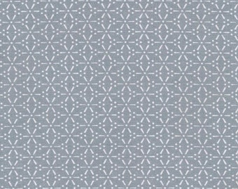 Au Maison oilcloth Sakura Dusty blue grey coated cotton