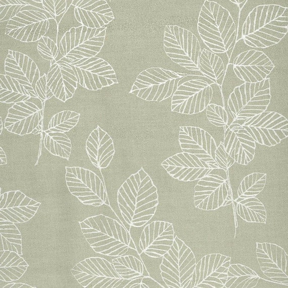 Au maison oilcloth nordic leaves dusty green coated cotton 1 m for Au maison oilcloth ireland