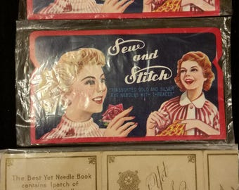 VINTAGE SEWING NEEDLES