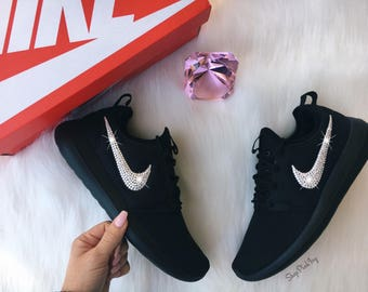 Bling Nike Roshe Two Shoes Customized With Swarovski Crystals