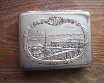 Vintage metal cigarette case / cigarette holder / smokers / holder from USSR/Credit Card Holder/ Metal Wallet.