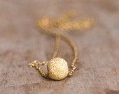 Gold Ball Necklace, Sparkling Ball Necklace, Dainty Disco Ball Necklace, Sliding Ball Necklace in 14K Gold Filled Everyday Jewellery