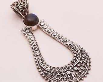 925 Solid Sterling Fine Silver LABRADORITE Pendant