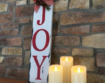 Joy Sign - Rustic Christmas Sign - Holiday Decor - Christmas Decor - Farmhouse Christmas Decor - Rustic Holiday Sign - Christmas Decoration