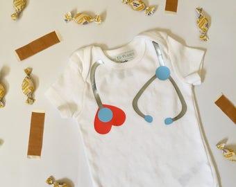 Stethoscope Nurse Doctor RN Onesie Bodysuit Tee Shirt