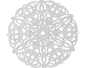 Snowflake Filigree Insert for Steampunk Octopunx Goggles Select Single or Pair