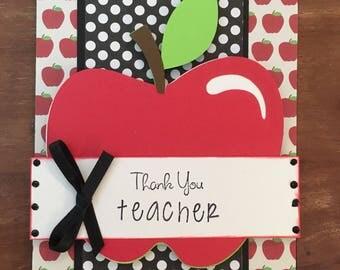 Teacher Appreciation Thank You Card with envelope