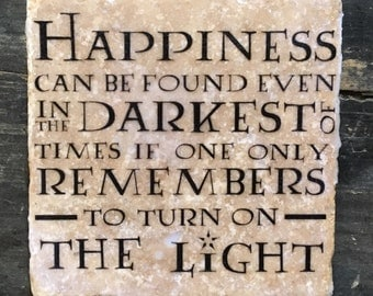 Dumbledore Happiness Quote Coaster or Decor Accent