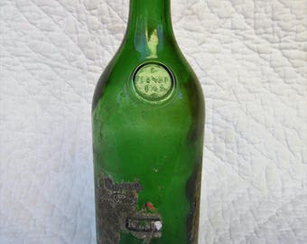 Old Pernod Fils bottle of absinth. In blown glass. Big size