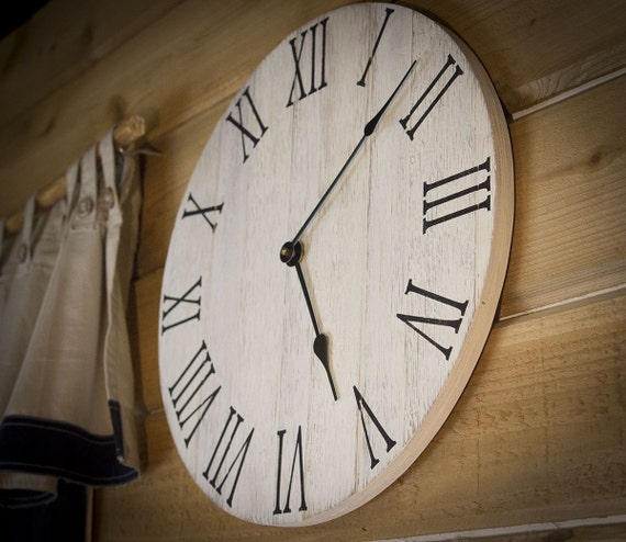 Farmhouse Wall Clock Rustic Wall Clock Wall Clock Large
