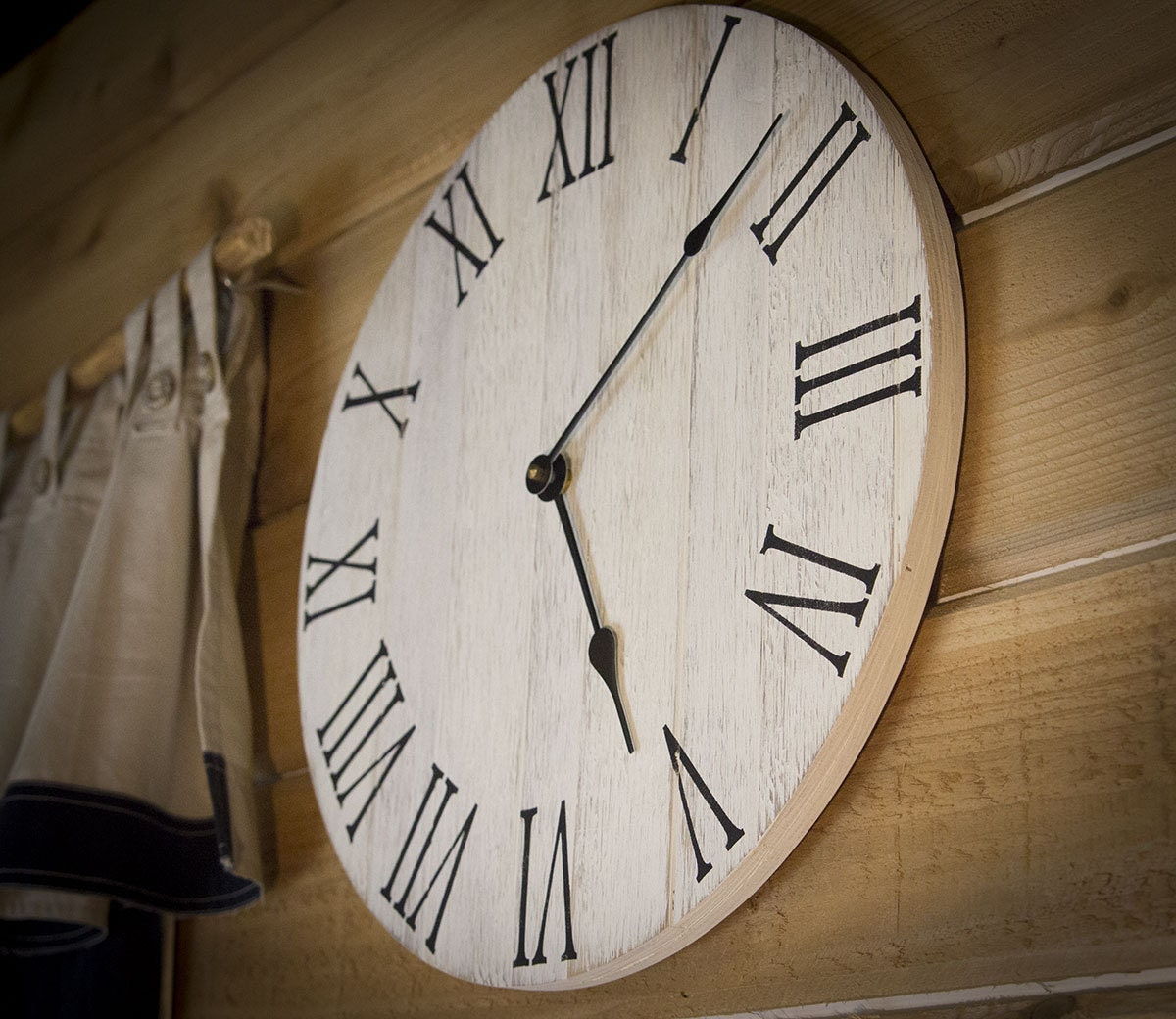 farmhouse wall clock rustic wall clock wall clock large wall clock wooden - Large Home Decor