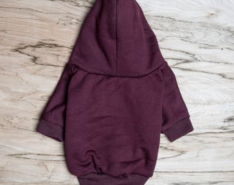 SALE PRICE - one size only - Dog / cat Hoodie - Maroon -  Handmade pet clothes - Ideal for dogs,  puppies and cats