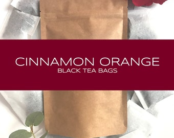 Cinnamon Orange Blended Black Tea Bags
