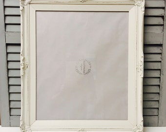 16x20 Chunky Frame; ; Large Picture Frames; Over-sized Frames; Distressed Rustic Frames; Hand-Painted Frame;