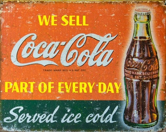 Kitchen Wall Art , Coca-Cola Lovers Wall Art, Cafe Decor, Diner Decor