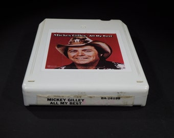 "Mickey Gilley ""All My Best"" 8 Track Tape Country Music '81 Vintage / BA-16198 / Room Full Of Roses / Goodnight Irene / San Antonio Rose"
