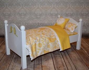 American Girl Doll Bed Yellow Bird