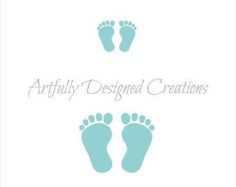 Baby Feet Stencil, Baby Shower Stencil