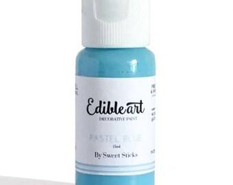 FAST SHIPPING!! Pastel Blue Edible Art Paint, Edible Food Color, Pastel Blue Food Color, Edible Water Color