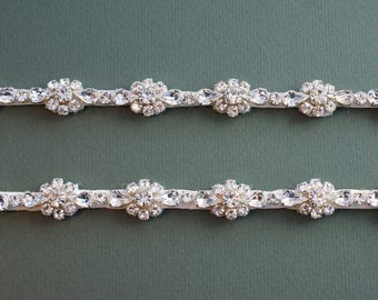 Diamante Attachable Bridal Straps - Made To Measure - BIJOU
