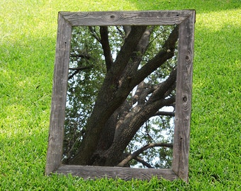 Large Reclaimed Rustic Mirror (Natural Shown), Wall Mirror, Vanity Mirror, Bathroom Mirror, Large Wall Mirror, Large Mirror, Framed Mirror