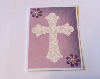 Easter card, Cross card, Christening card, baptism card, communion card, blank card, girl confirmation card