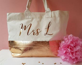 Metallic Personalised bag x 4
