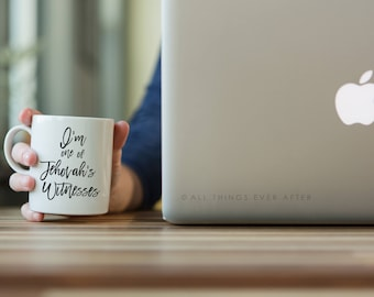 Jehovah's Witness Gift | I'm one of Jehovah's Witnesses  | JW | MUG | Cup | I love Coffee | Elder's | Gift | Baptism | Present | Jw Org