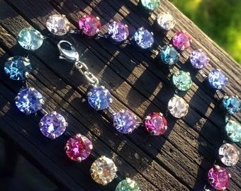 Spring bling! 8mm genuine Swarovski crystal necklace