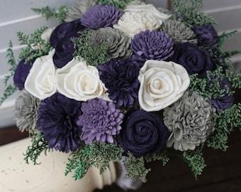 Sola Bouquet, Rustic Wedding, Purple Bouquet, Purple gray bouquet, Wedding Bouquet, wedding bouquet, wedding flowers, country wedding,
