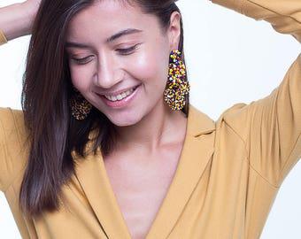 Flamenca earrings -MULTI