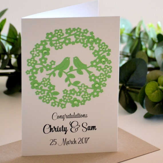 Wedding Gift Card Australia : Wedding Day Card, Custom Wedding Card,Wedding Congratulations Card ...