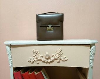 Vintage leather satchel / Leather pannier / Little  bag / Retro Bag / Brown Handbag/  Handbag / Vintage Bag / Leather Bag/ 50s Bag / 50s
