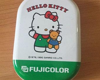 Vintage Small Tin Box Sanrio Hello Kitty 1990 Kawaii